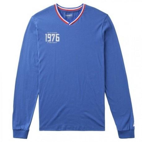 Tee-Shirt Manches Longues ASSE Le Coq Sportif 1976 bleu