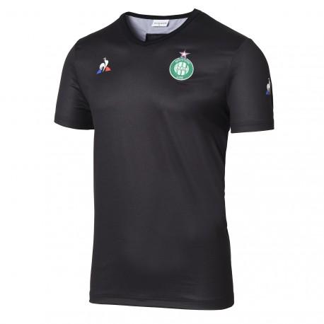 Tee Shirt entraînement enfant noir ASSE 2017 - 2018 Le Coq Sportif